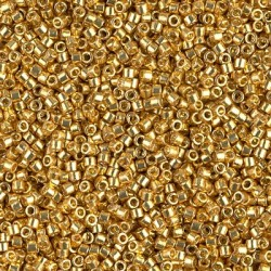 Delica DB1832 - Duracoat Galv Gold, margele 11/0 Miyuki Delica, 2.5g