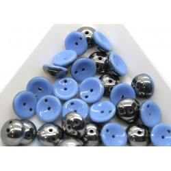 Margele Piggy 4x8mm - pg04 Opq Blue Chrome, 15buc