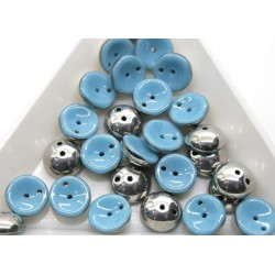 Margele Piggy 4x8mm - pg07 Turquoise Labrador, 15buc