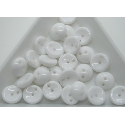 Margele Piggy 4x8mm - pg09 Chalk White, 15buc