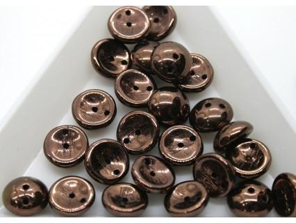 Margele Piggy 4x8mm - pg12 Dark Bronze, 15buc