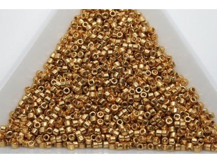 Delica DB1833 - Duracoat Galv Yellow Gold, margele 11/0 Miyuki Delica, 2g