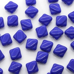 Margele sticla Cehia silky 6 mm, opaque royal blue (10 buc)