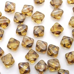 Margele Silky 6mm - Crystal Picasso - 10buc