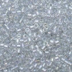 Delica DB1677 - Pearl Lined Transp Pale Grey AB - margele Miyuki Delica11 - 5g