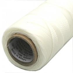 Linhasita 1mm White - fir poliester cerat - bobina ~168m