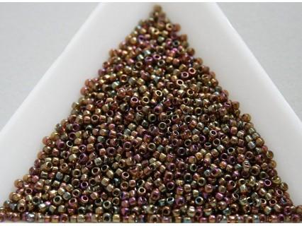 Toho R15-459, Gold-Lustered Dark Topaz, 5g