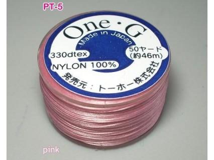 Ata Toho OneG PT-05, pink, bobina cca. 46m