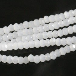 Chinese Cut Beads 1mm [ccb57] - White Opal - aprox. 200 buc - sirag