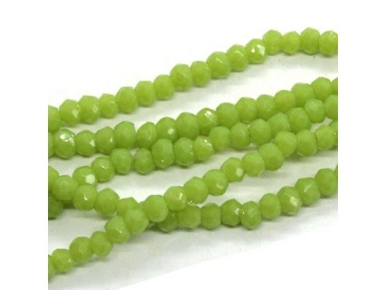 Chinese Cut Beads 1mm [ccb03] - Apple Green - aprox. 200 buc - sirag