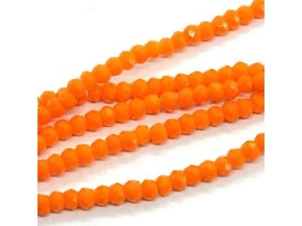 Chinese Cut Beads 1mm [ccb31] - Tangerine - aprox. 200 buc - sirag