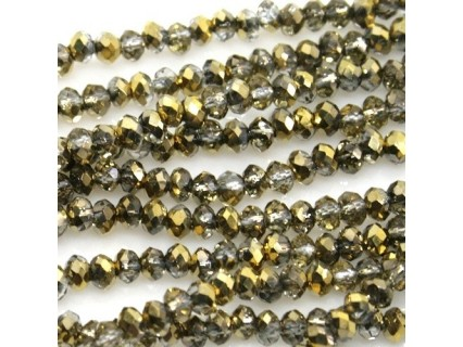 Chinese Cut Beads 1mm [ccb99ca] - Crystal Amber - aprox. 200 buc - sirag
