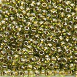 Toho R11-991, Gold-Lined Peridot, 10g