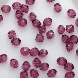 MCR3-54 Fuchsia - margele bicon 3mm MC Rondell - 12x
