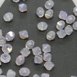 MCR3-26 Lila Opal AB - margele bicon 3mm MC Rondell - 12x
