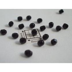 FP-03 - margele firepolish 3mm, culoarea negru lucios (100 buc). CE-03-200