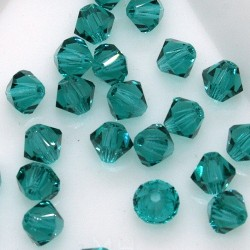 MCR4-51 Blue Zircon - margele bicon 4mm MC Rondell - 12x