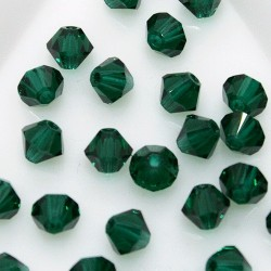 MCR4-48 Emerald - margele bicon 4mm MC Rondell - 12x