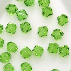 MCR4-47 Peridot - margele bicon 4mm MC Rondell - 12x