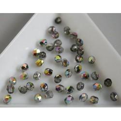 FP 3 - margele sticla Cehia firepolish 3mm, culoarea Vitral green cristal (100 buc) CE-03-263