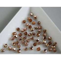 FP 3 - margele sticla firepolish 3mm, culoarea copper topaz (100 buc) CE-03-264