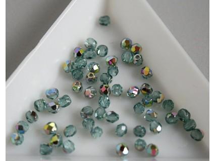FP 3 - margele sticla firepolish 3mm, culoarea vitral teal (100 buc) CE-03-270.