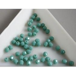 FP 3 - margele sticla firepolish 3mm, culoarea opaque turquoise (100 buc) CE-03-271
