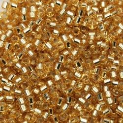 Delica DB42 - Gold Silver Lined - margele Miyuki Delica11 - 5g