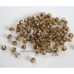 FP 3 - margele sticla Cehia firepolish 3 mm, culoarea bronze iris medium topaz (100 buc) CE-03-273
