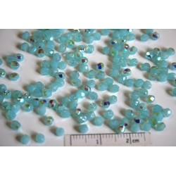 FP 3 - margele sticla Cehia firepolish 3 mm, culoarea milky aquamarine AB (100 buc) CE-03-275