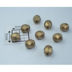 FP 4 - margele firepolish 4mm, culoarea mat metalic auriu (100 buc) CE-04-216