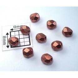 FP04-217 margele firepolish 4mm, culoarea mat metalic cupru (100 buc)