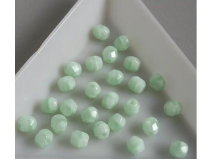 FP 4 - margele sticla Cehia firepolish 4 mm, culoarea opaque azur turquoise (100 buc) CE-04-301