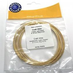 Griffin Craft Wire GP 1.0mm - sarma modelaj din cupru placat cu aur - 4m