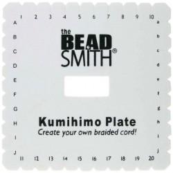 Kumihimo placa patrata 14x14cm pentru impletituri tip banda