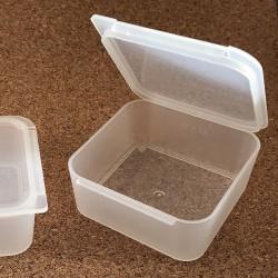 Storage box 47x47x19mm - cutie plastic transparent PP, 1buc.