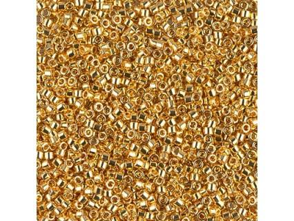 Miyuki Delica 11/0 DB31 - Gold 24K Plated - 2g