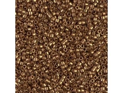 Delica DB115 - Dark Topaz Gold Luster, margele 11/0 Miyuki Delica, 5g