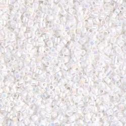 Delica DB202 - White Pearl AB - margele Miyuki Delica11 - 5g
