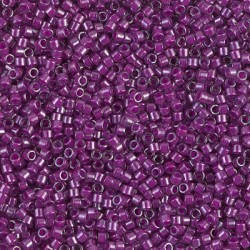 Delica DB281 - Luster Crystal Lined Fuchsia, margele 11/0 Miyuki Delica, 5g