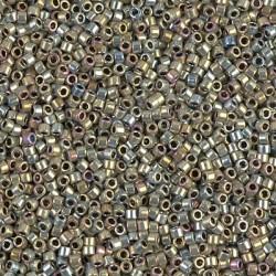 Miyuki Delica 11/0 DB546 - Silver Gold Iris (Palladium Plated AB) - 2g