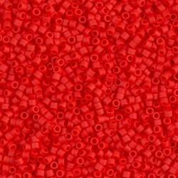 Delica DB757 - Matte Opaque Vermillion Red - margele Miyuki Delica11 - 5g