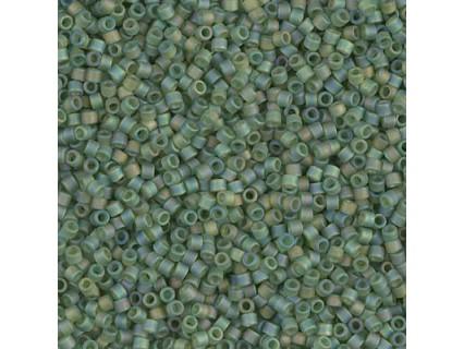 Delica DB1282 - Mat Transparent Olive AB - margele Miyuki Delica11 - 5g