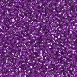 Delica DB1345 - Silver Lined Bright Violet Dyed - margele Miyuki Delica11 - 5g