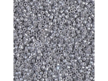 Delica DB1570 - Opaque Ghost Gray Luster, margele 11/0 Miyuki Delica, 5g
